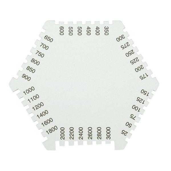 Гексагональная алюминиевая гребенка для измерения толщины мокрого слоя Elcometer 112AL