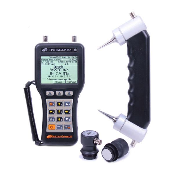 Ультразвуковой прибор для контроля прочности ПУЛЬСАР-2.1 версия 3