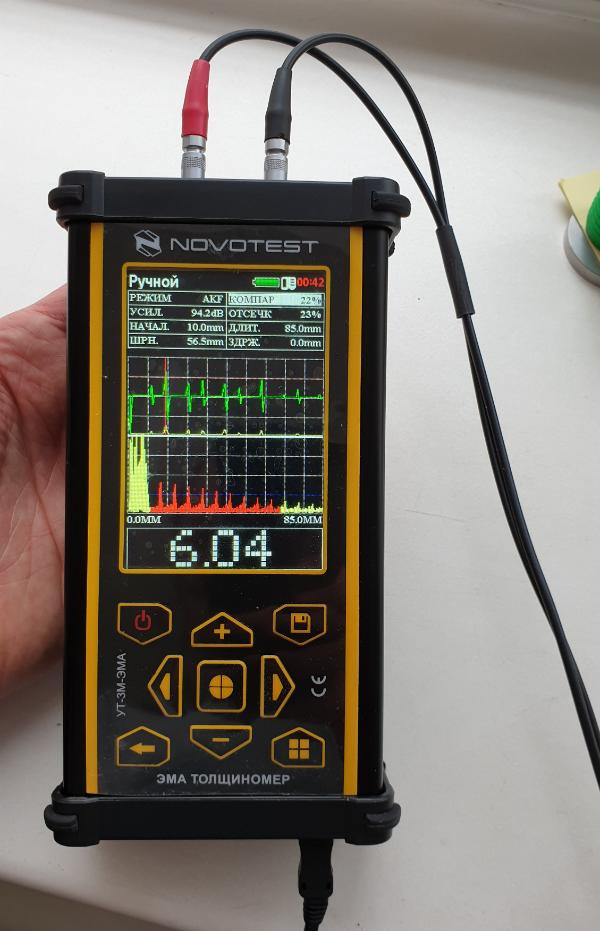 Толщиномер электромагнитно-акустический (ЭМА) УТ-3М-ЭМА