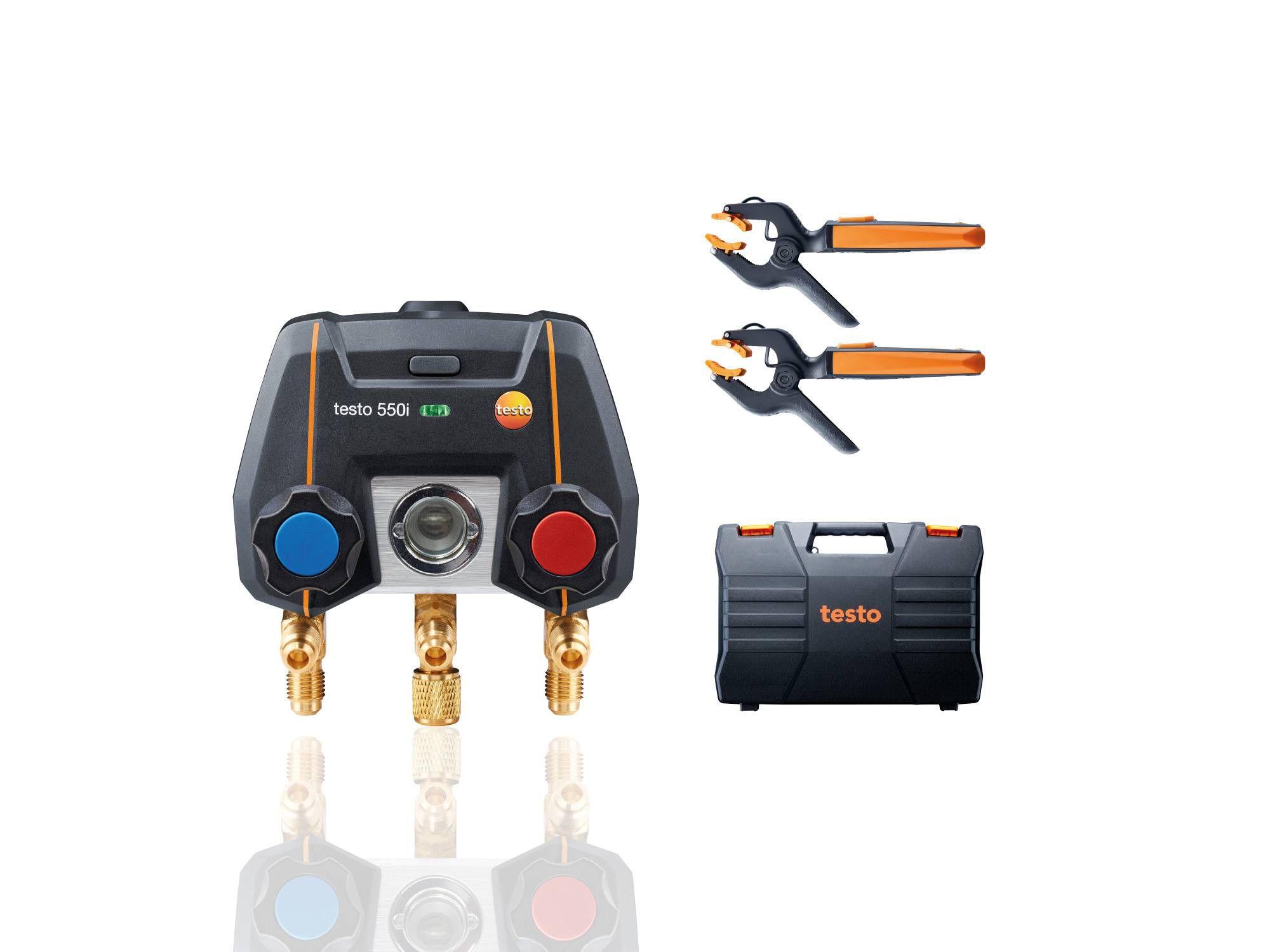 Цифровой манометрический коллектор testo 550i комплект 1 с кейсом (0564 3550)