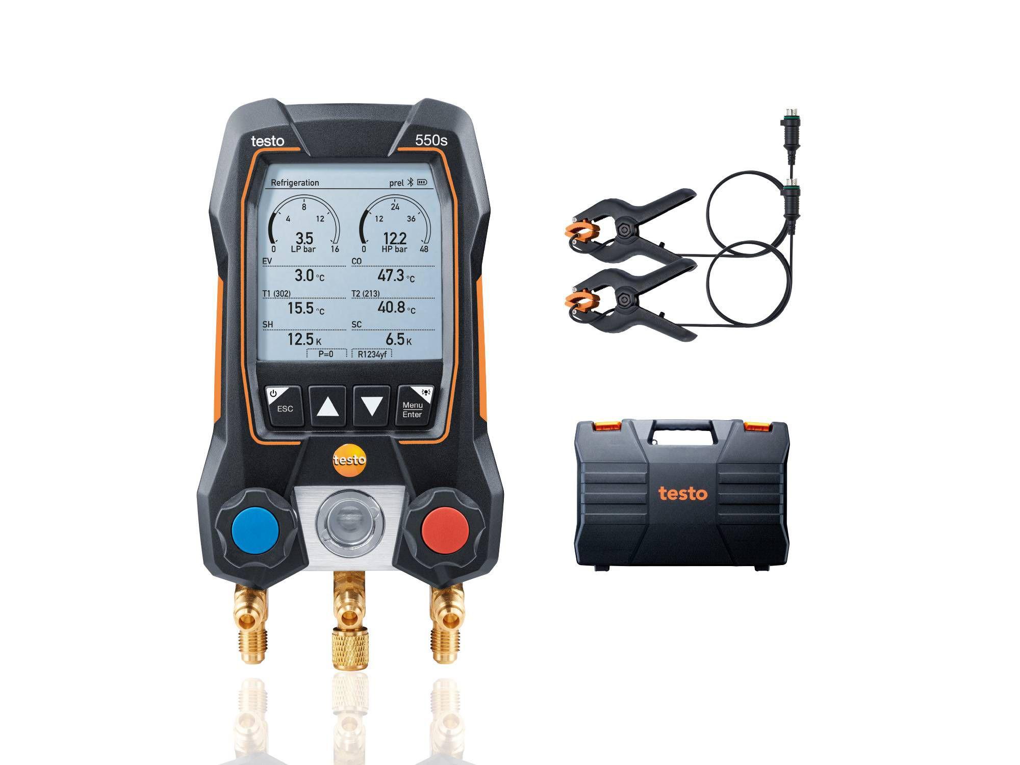 Умный цифровой манометрический коллектор testo 550s комплект 1 (0564 5501)