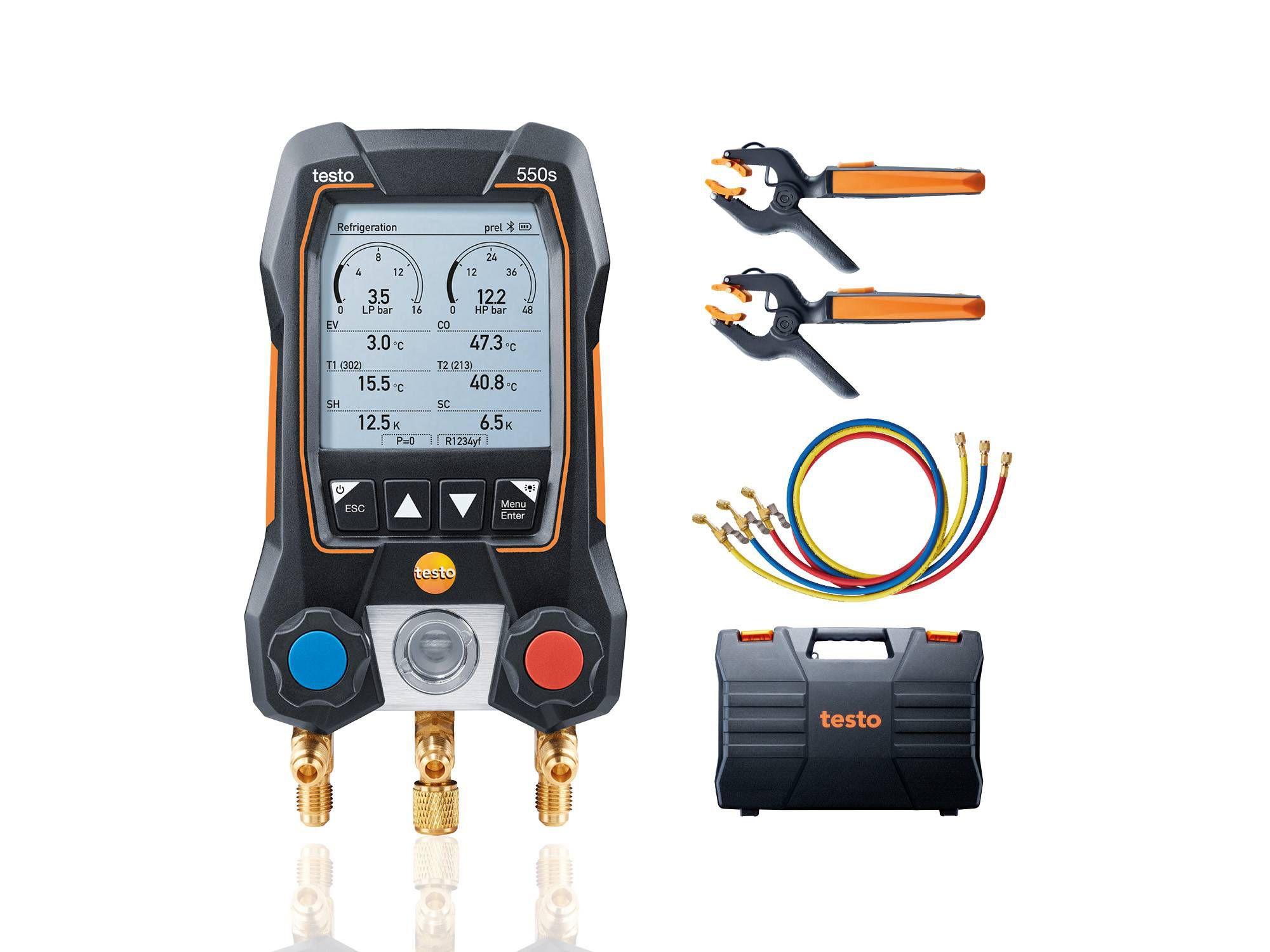Умный цифровой манометрический коллектор testo 550s комплект 3 (0564 5503)