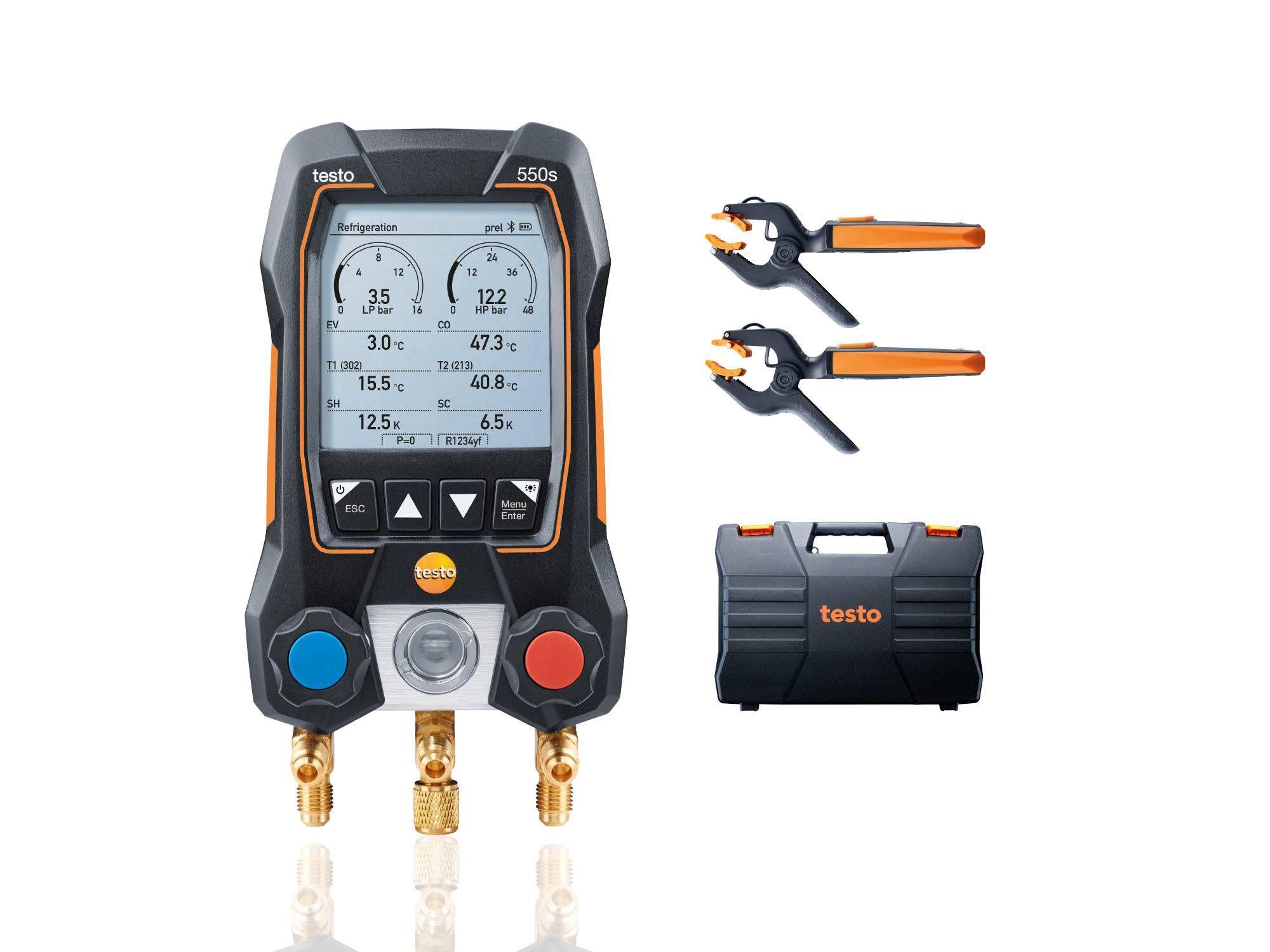 Умный цифровой манометрический коллектор testo 550s комплект 2 (0564 5502)