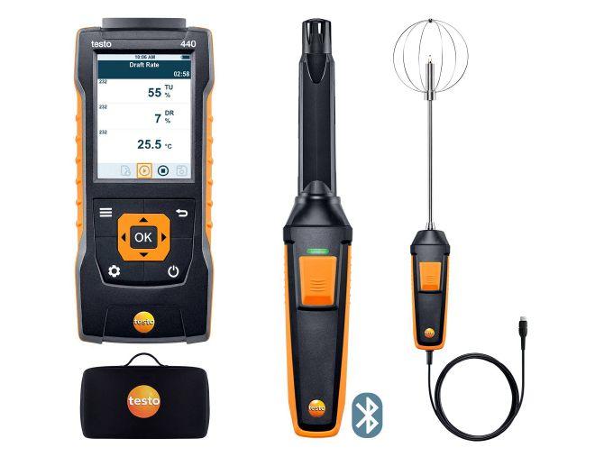 Комплект уровня комфорта с Bluetooth® — testo 440 (0563 4408)